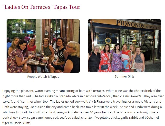 Ladies On Terraces Tapas Tour